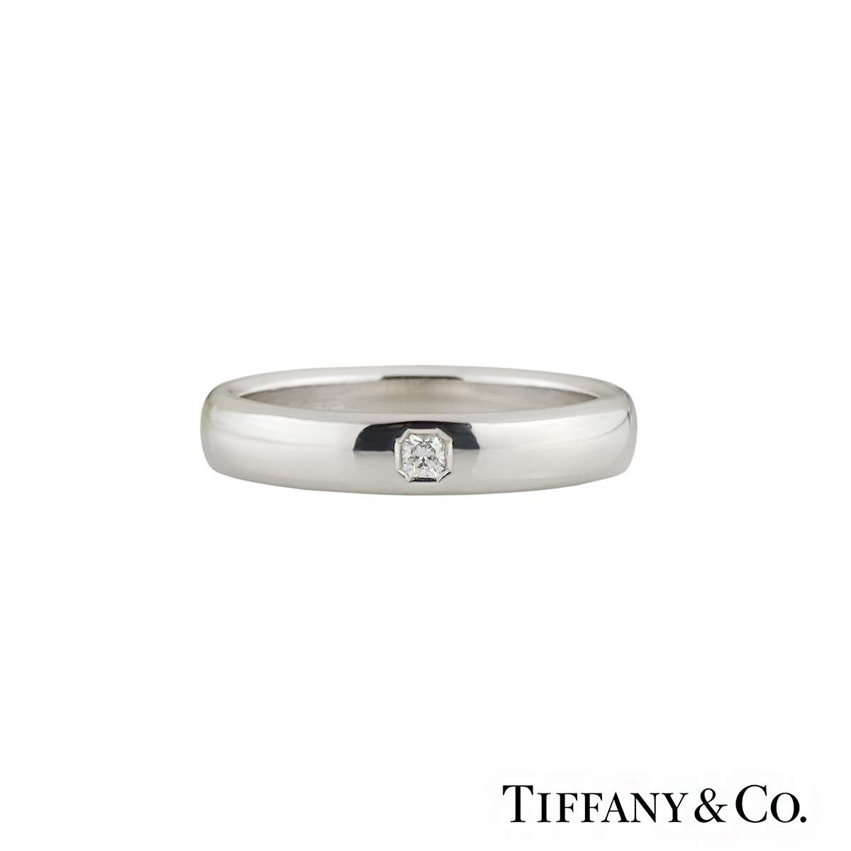 Lucida Bands: Tiffany & Co. Lucida Diamond Wedding Band In Platinum